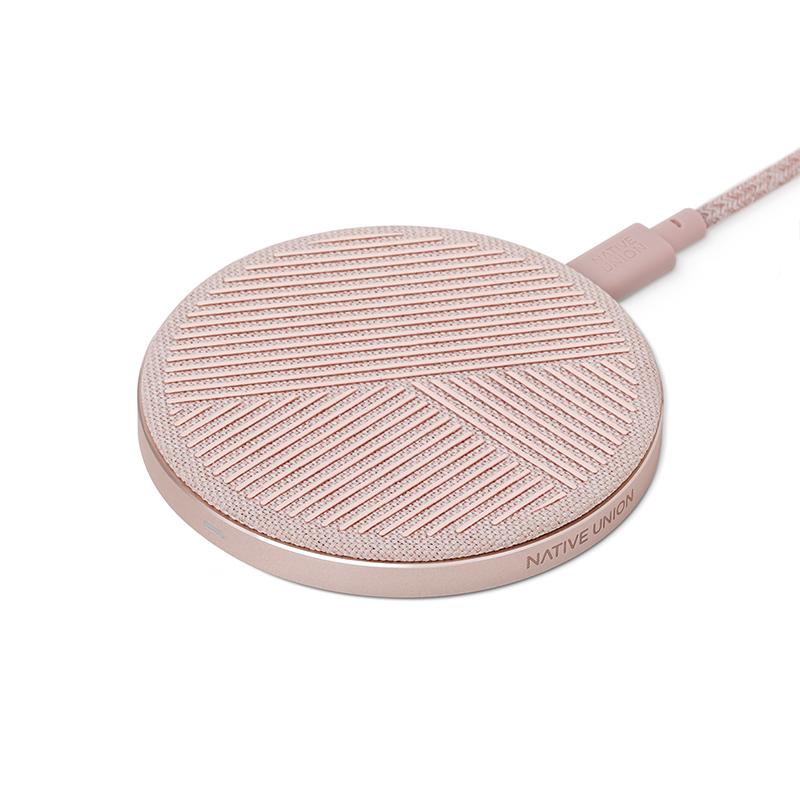 Беспроводное зарядное устройство Native Union Drop, розовый